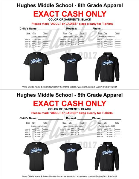 8th Grade T-shirts Going on Sale!!